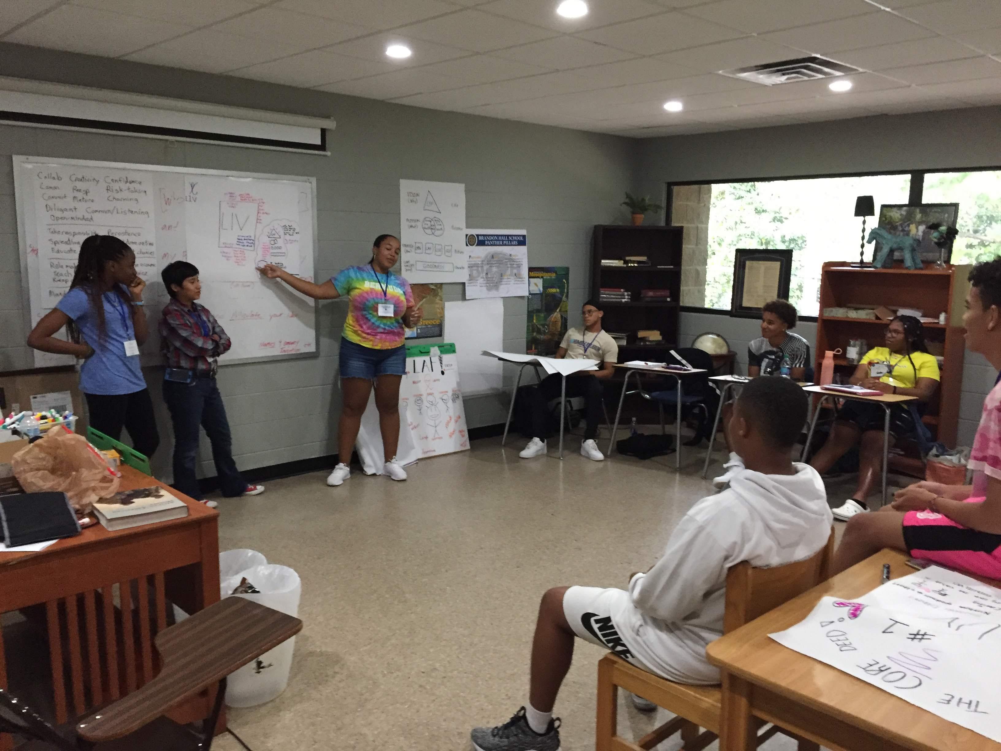 LRN LAF LUV LIV Learn Laugh Love Live for Leaders Workshop 2 Students Presenting