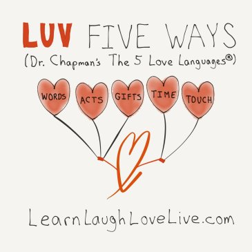 5 Love Languages LRN LAF LUV LIV Learn Laugh Love Live
