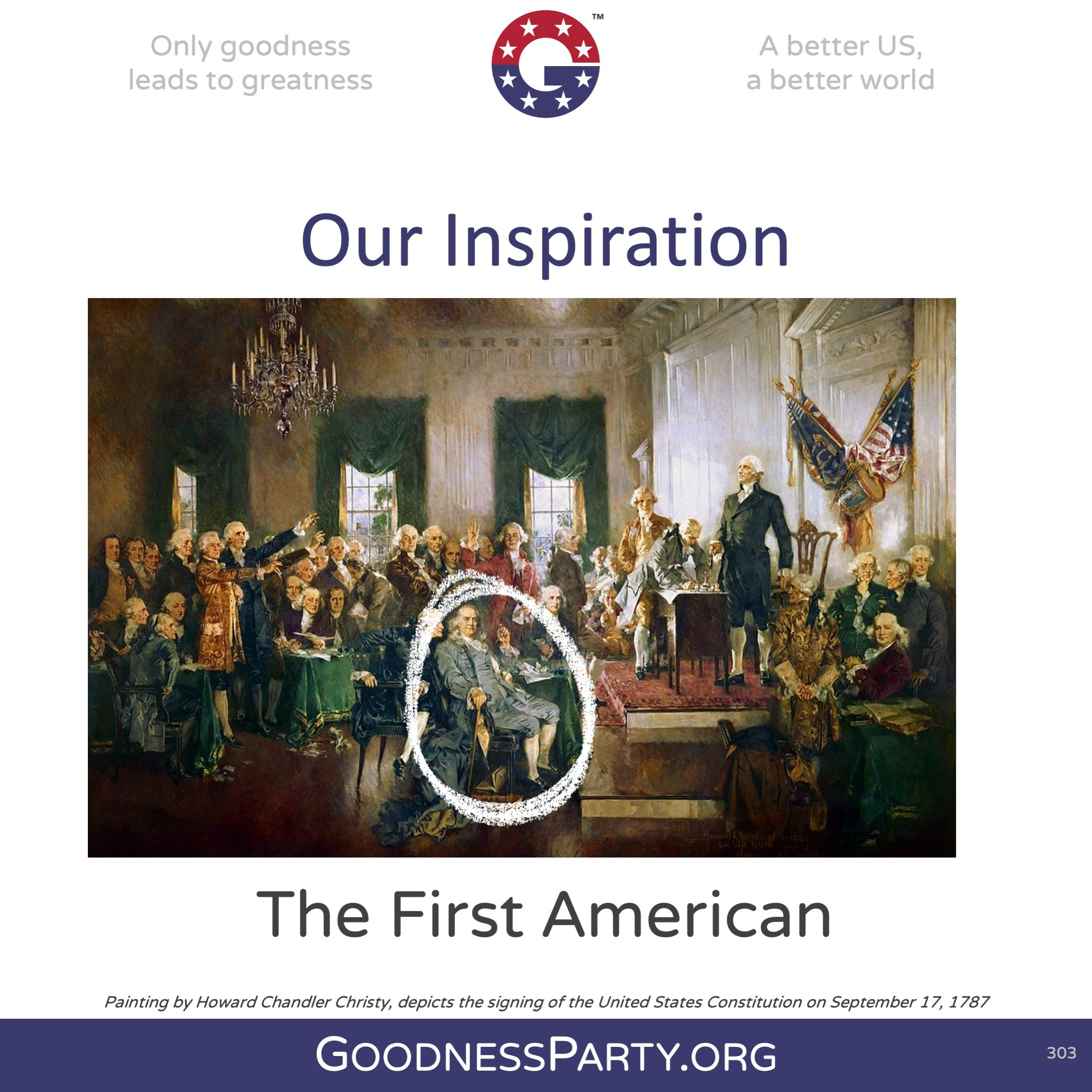 Goodness Party Our Inspiration Benjamin Franklin