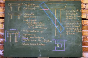 timber frame chalk board