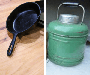 cast iron and thermos