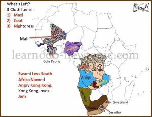 Learn the Map of Africa through KongKong