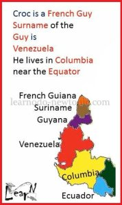 Learn the Map of South America