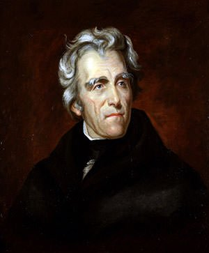 Andrew Jackson in a 1824 painting by Thomas Sully
