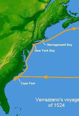 Verrazzano's voyage in 1524