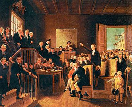 Patrick Henry Parson's Cause Painting by George Cooke