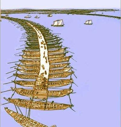 Xerxes's bridge across Hellespont