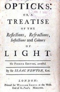 Title Page of Isaac Newton's Opticks
