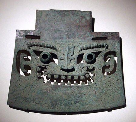 Shang dynasty bronze battle axe