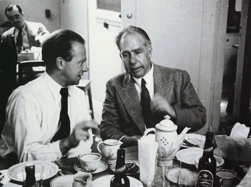 Bohr with Werner Heisenberg in 1934