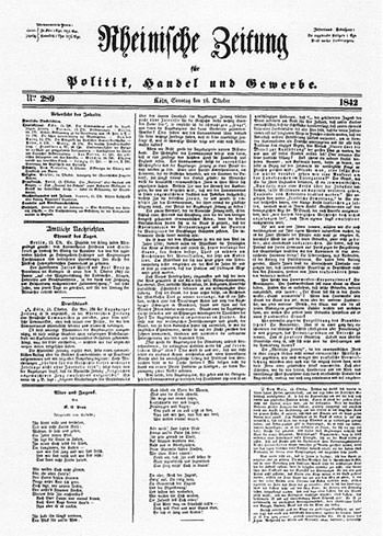 Front page of the Rhineland News