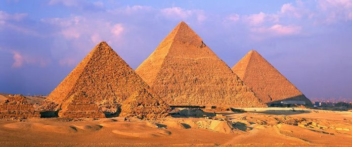 The three main pyramids of Giza