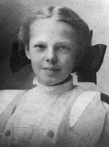 Amelia Earhart in 1908