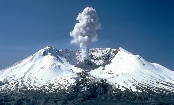 Mount St. Helens in 1982