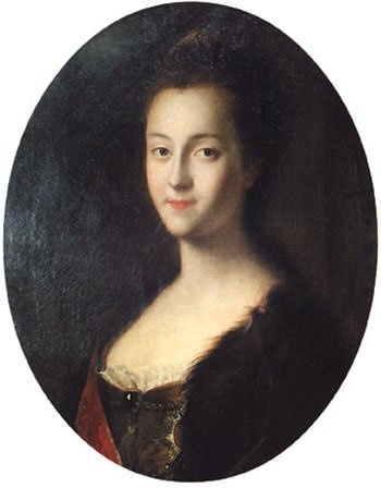 Portrait of Catherine II as a young girl