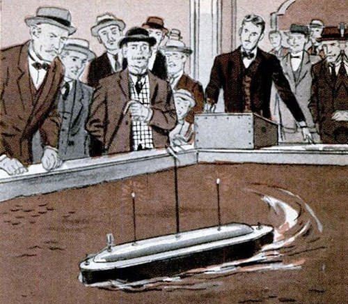 Tesla's remote controlled boat