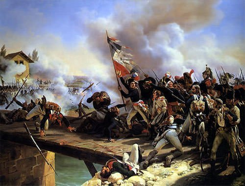 Napoleon Bonaparte leading during the French Revolutionary Wars