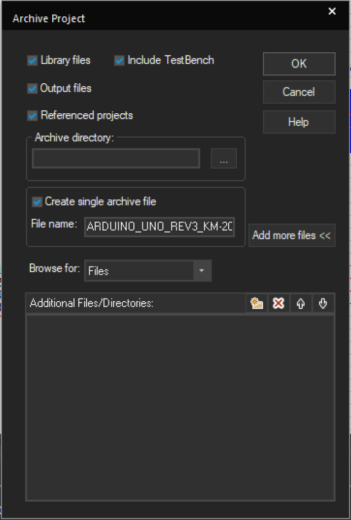 Use Archive Project to transfer OrCAD library parts