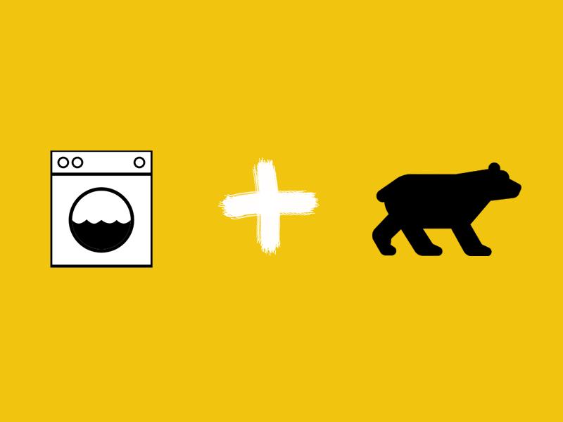 """funny german animal """"washing bear"""""""