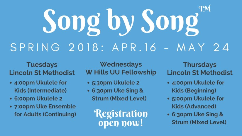 Spring 2018 Registration Now Open! – Song by Song™