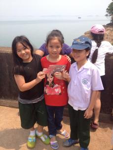 Stan and students at Nam Ngum