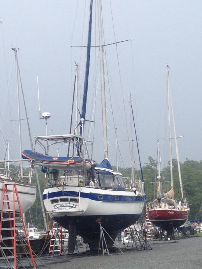 Kitty Hawk at Deaton's Boatyard