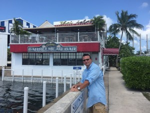 Me as....well....me in front of the Bimini Barrelhead Bar