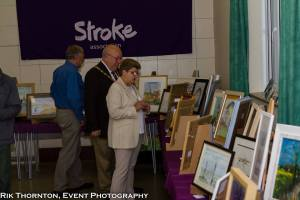 the mayor looks round the exhibition