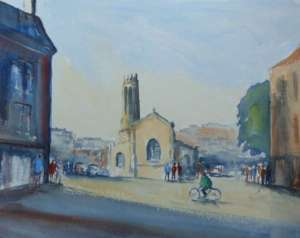 watercolour painting of st mary's coppergate york