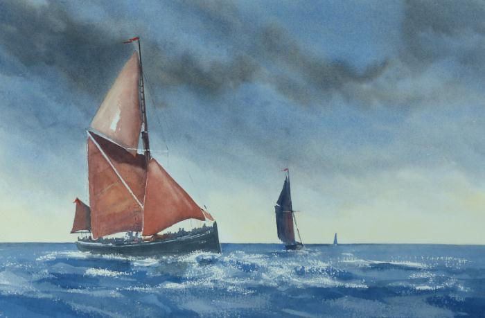 Thames Barge off Maldon Essex
