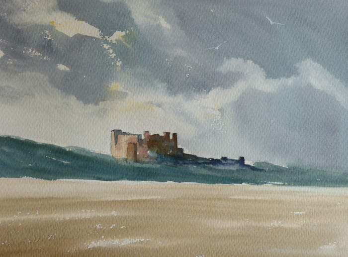 Stormy Sky at Bamburgh Castle