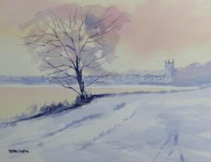 painting of snow at Great Massingham
