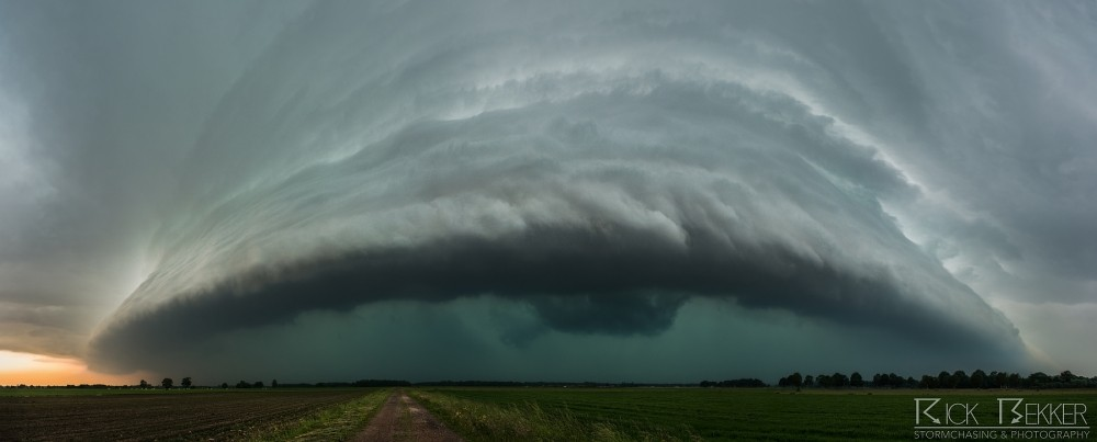 Tempestade severa de entrada Rick Bekker