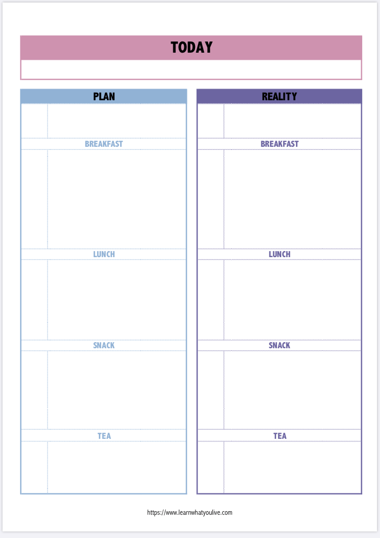 daily planning printable