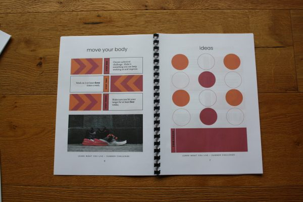 two layouts from the summer challenge booklet