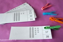 Tens and Units Count and Clip Cards