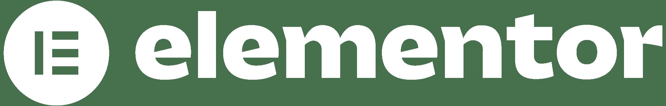Elementor page builder logo in white