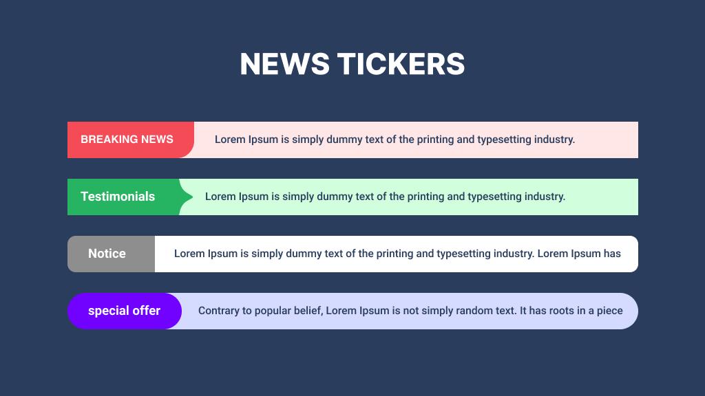 elementor news ticker widget example