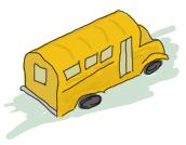 A short school bus