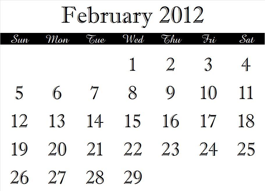 ~ 2012 Calendar Months (2/6)