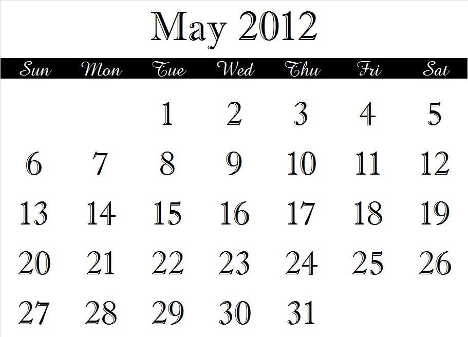 ~ 2012 Calendar Months (5/6)