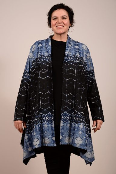 Shawl Collar Overcoat, duster-style cardigan by Dressori