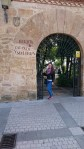 Eingang zu einem schönen Park in Salamnca