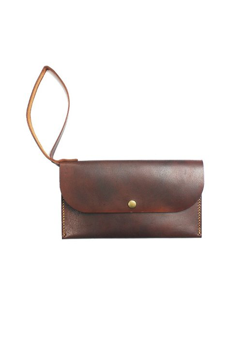 Leather.PH Slim Clutch - Brown