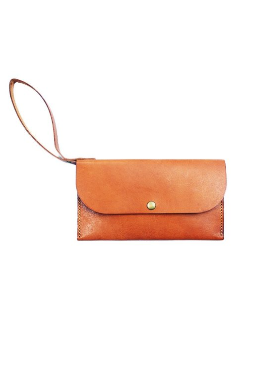 Leather.PH Slim Clutch - Tan