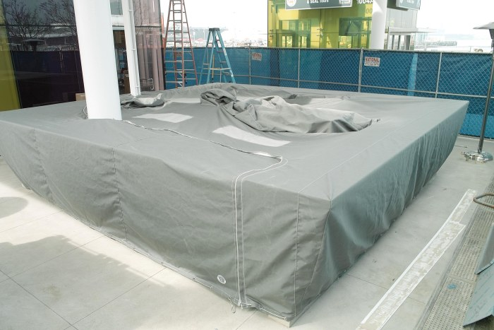 Charcoal Grey Sunbrella Outdoor Bar Cover