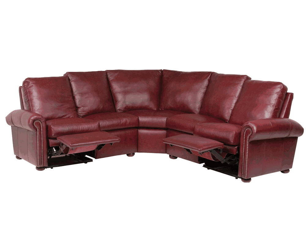 Sectional Leather Recliner Couch