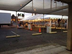 Tent Sale Setup