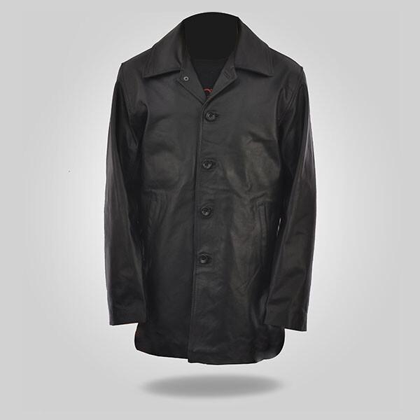 Curious – Black Leather Coat for Men