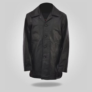 Curious – Black Leather Coat for Men